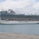 Crown Princess in Barbados harbour