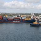 The Pelican II escorting the Caribbean Jade